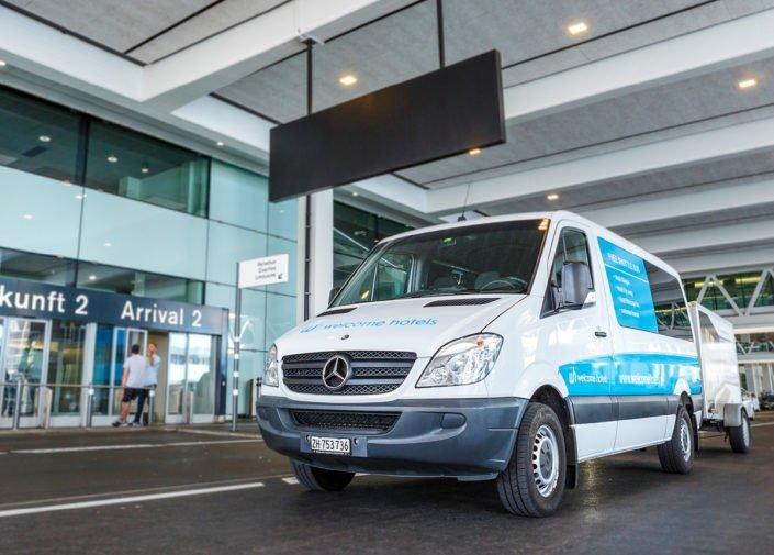 Hotel shuttle bus Hotel Allegra, Zurich Airport, welcome hotels
