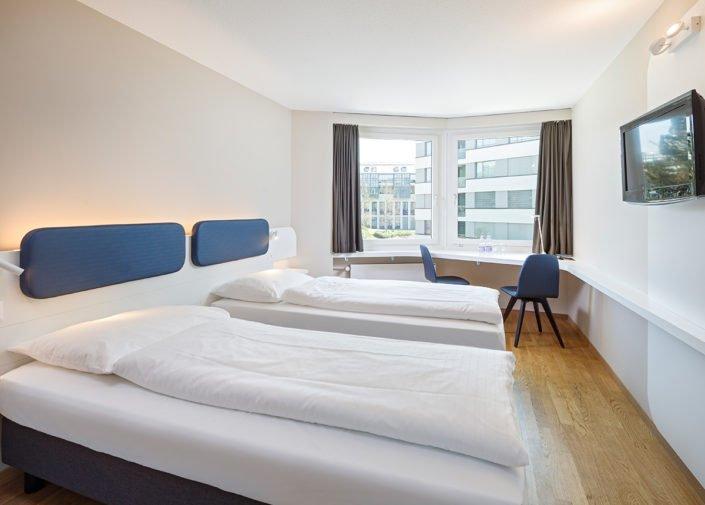 Zweibettzimmer Hotel Welcome Inn, Zürich-Flughafen, welcome hotels