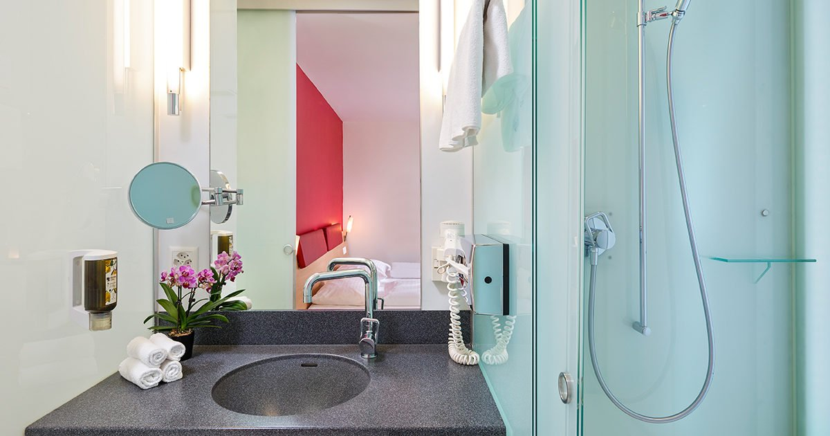 Salle de bains de Chambre familiale Hôtel Coronado, Zurich, welcome hotels